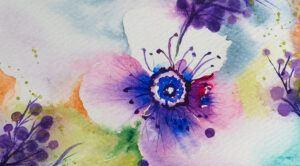 Flower and berries painting-art print