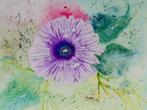 A floral blossom painting-art print