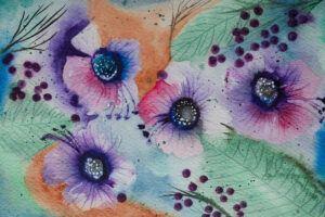 Floral and berries paintings-art prints