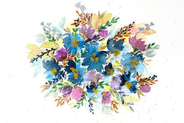 Multicoloured Floral Bouquet