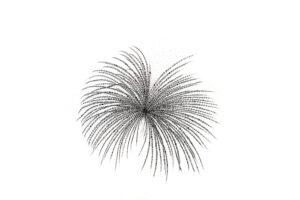 Abstract dandelion seeds art-art print