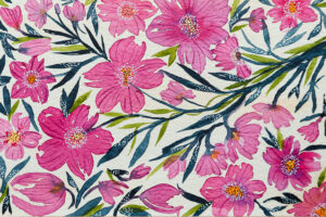 Pink cherry floral blossoms-art print